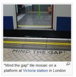 Mind the Gap sign in subway